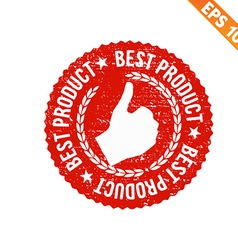 Rubber stamp best product - - EPS10 vector image
