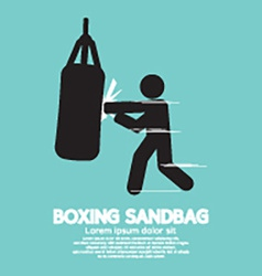 Sandbag for boxer graphic symbol vector
