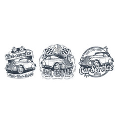 Set of vintage badges stickers signage vector