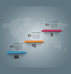 Shelf pin clip paper - business infographic vector