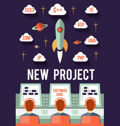 Startup new project vector