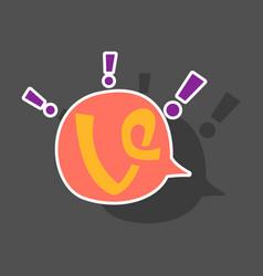 Sticker vine icon in thinking cloud vector
