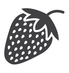 Strawberry solid icon fruit and diet vector