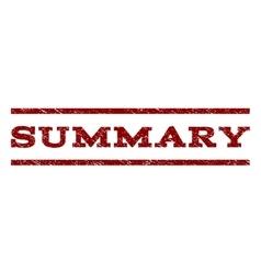 Summary watermark stamp vector