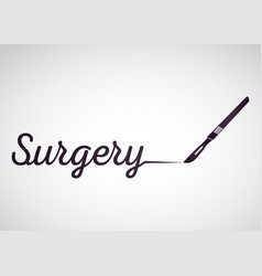 surgery medical logo icon design vector image