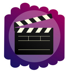 the clapperboard bright icon a sign of vector image vector image