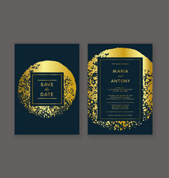 trendy wedding invitation vector image