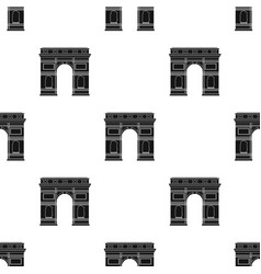 Triumphal arch icon in black style isolated on vector