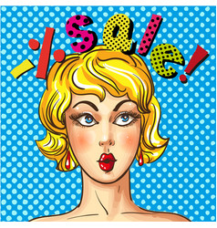 vintage pop art sales advertising poster vector image