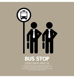 Waiting at a Bus Stop vector image