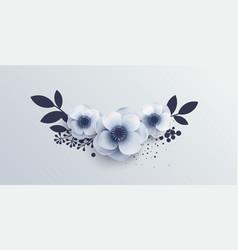 Wedding bouquet of flowers anemones vector
