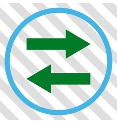 Horizontal flip arrows icon vector