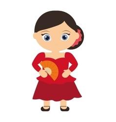 Spanish flamenco woman avatar vector image