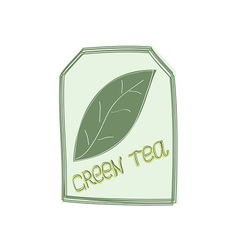 The tag of green tea vector