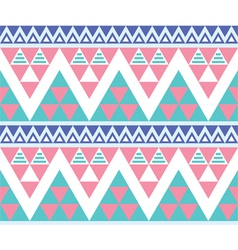 Tribal aztec colorful seamless pattern vector image