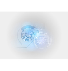 Abstract tech light blue vector