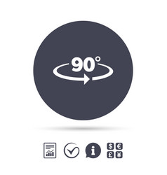 Angle 90 degrees sign icon geometry math symbol vector