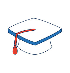 Graduation cap accessory education success symbol vector