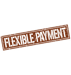 Flexible payment square grunge stamp vector