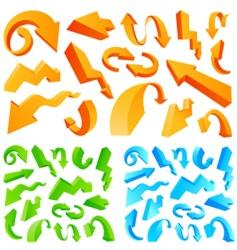 arrow great set vector image