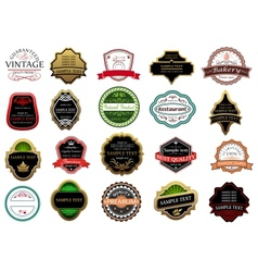 Banners labels and stickers set vector