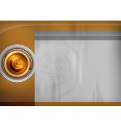 template gold target vector image