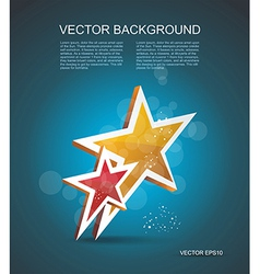 Two gold stars cinema background vector