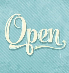 Retro open sign vector