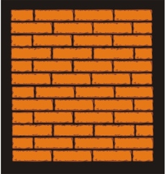 Orange brick wall clip art vector