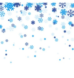 Blue falling snowflakes vector