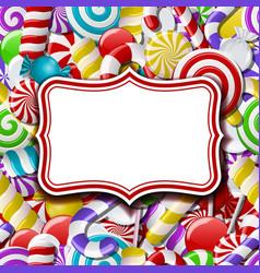 Frame labels on sweet background vector image