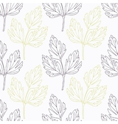 Hand drawn lovage branch wirh flowers stylized vector