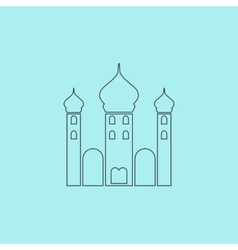 Mosque icon on background vector