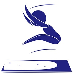 Sport icon for long jump vector