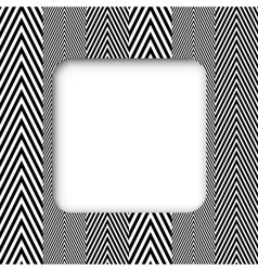 Abstract Black and White Herringbone Fabric Style vector image
