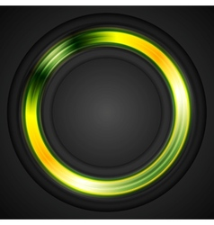 Bright glowing circle logo vector image vector image