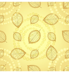 Bright seamless pattern with gold decorative leave vector image
