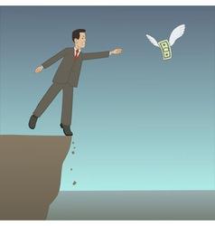 businessman near the precipice vector image vector image