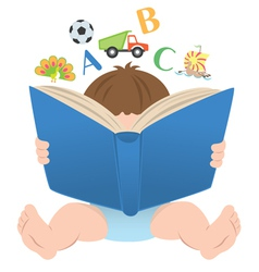 Child and book vector