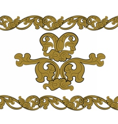 Classic royal style bronze ornament vector