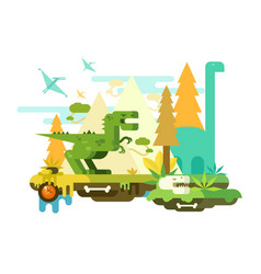 dawn of the dinosaurs vector image vector image