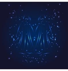 Gemini zodiac whith glitter star vector image vector image