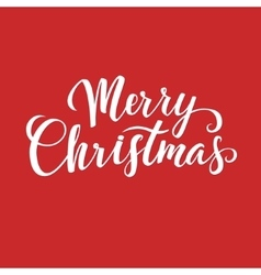 Greeting Card Merry Christmas lettering vector image vector image
