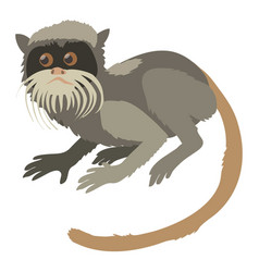 Imperial tamarin icon cartoon style vector