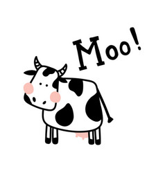 Isolated cow vector
