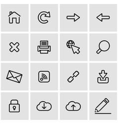 line web icon set vector image