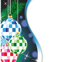 Mysterious christmas background vector