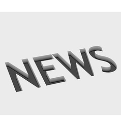 News text design vector