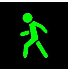 Pixel symbol pedestrian vector