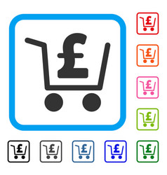 Pound checkout framed icon vector